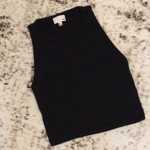 WILFRED FREE BLACK CROP TOP
